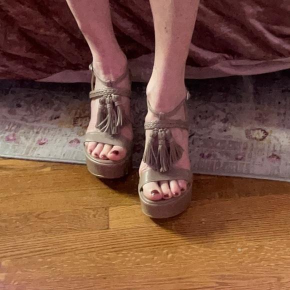 Stuart Weitzman Tasselmania Sandals